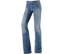 Teena Bootcut Jeans Damen, dark blue denim