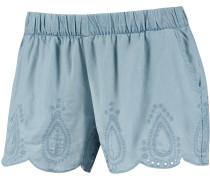 Shorts Damen, light blue denim