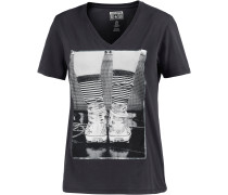 Printshirt Damen, grau