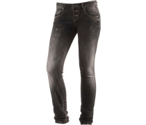Ulla Skinny Fit Jeans Damen, black destroyed denim
