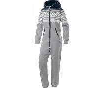 Marius 2.0 Jumpsuit, grey mel/white/navy