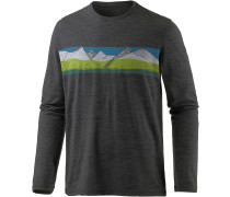 Tech Lite LS South Alps Langarmshirt Herren, Black/Redwood