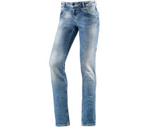 Rea Straight Fit Jeans Damen, blau