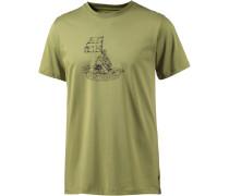 Keep Trekking Printshirt Herren, grün