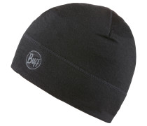 Merino Wool 1 Layer Hat Beanie, solid black