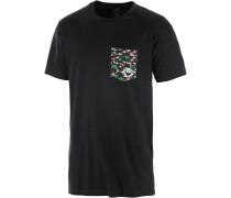 Aloha Pocket T-Shirt Herren, schwarz