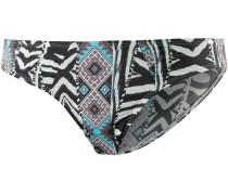 African Tribe Bikini Hose Damen, schwarz/weiß/türkis