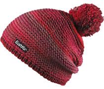 Mütze Kunita Pompon Bommelmütze, rot