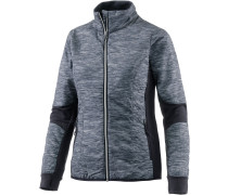 Helix LS Zip Fraser Peaks Outdoorjacke Damen, Grey HTHR/Stealth/Snow