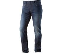 CULVER Slim Fit Jeans Herren, dark stone wash denim