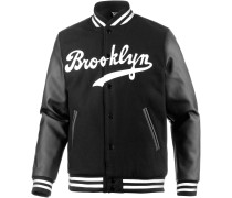 Brooklyn Dodgers Collegejacke Herren, schwarz