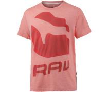 T-Shirt Herren, hellrot/rot