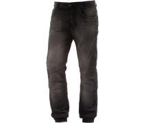 Slim Fit Jeans Herren, grey black denim