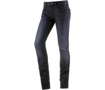 Attacc Mid Straight Straight Fit Jeans Damen, blau