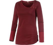 Langarmshirt Damen, rot