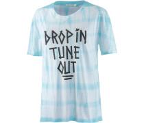 Swim Printshirt Damen, blau