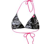 Marbled Hawaii Bikini Oberteil Damen, schwarz