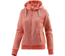 Lilla Strickfleece Damen, orange