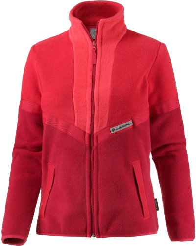 jack wolfskin damen sunset fleecejacke damen rot reduziert. Black Bedroom Furniture Sets. Home Design Ideas