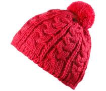 Bobbla Bommelmütze Damen, rot