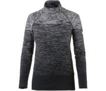 Pro Hyperwarm Langarmshirt Damen, dark grey-white