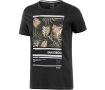 Bolder Printshirt Herren, schwarz