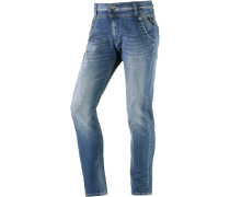 Denice Boyfriend Jeans Damen, Blau