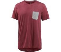 Printshirt Herren, rot