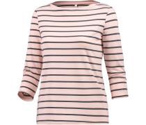 Langarmshirt Damen, rosa/grau gestreift