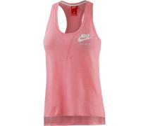Gym Vintage Tanktop Damen, pink/melange