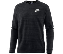 NSW AV15 Sweatshirt Herren, BLACK/HTR/WHITE