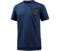 SID AOP Printshirt Herren, blau