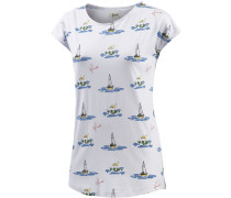 Telsa Printshirt Damen, weiß