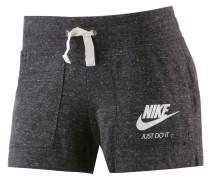 Gym Vintage Shorts Damen, schwarz-melange