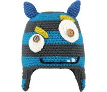 Monster Beanie Kinder, blau