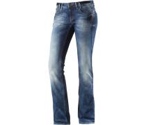 Heidi Straight Fit Jeans Damen, blau