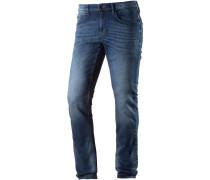 CULVER Slim Fit Jeans Herren, stone wash denim