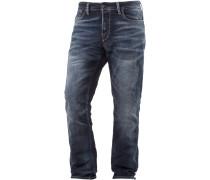 JJIMIKE Straight Fit Jeans Herren, blau