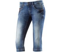 Alena 3/4-Jeans Damen, blau