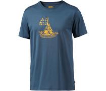 Keep Trekking Printshirt Herren, blau