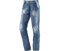 ChesterTZ Loose Fit Jeans Herren, Blau