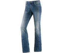 Tina Bootcut Jeans Damen, Blau