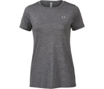 Heatgear T-Shirt Damen, charcoal light heather-metallic silver