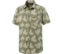 Hot Chili Tropical Kurzarmhemd Herren, khaki/allover
