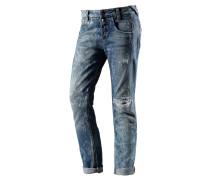 Sampey Boyfriend Jeans Damen, blau