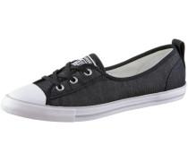 Ballet Lace Sneaker Damen, schwarz