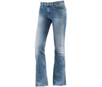 Fran Bootcut Jeans Damen, blau