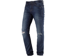 CULVER Slim Fit Jeans Herren, stone blue denim
