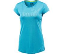ACTIVE Essential T-Shirt Damen, blau/melange