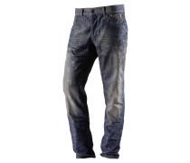 Loose Fit Jeans Herren, blau